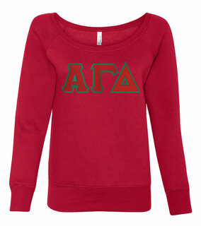 DISCOUNT-Alpha Gamma Delta Fleece Wideneck Sweatshirt
