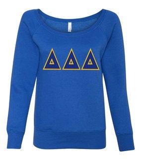DISCOUNT-Delta Delta Delta Fleece Wideneck Sweatshirt
