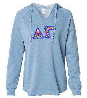 Delta Gamma Lightweight California Wavewash Hooded Pullover Sweatshirt