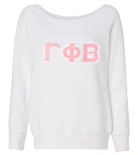 DISCOUNT-Gamma Phi Beta Fleece Wideneck Sweatshirt