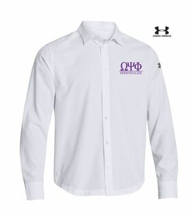 Omega Psi Phi Under Armour�  Men's Ultimate Fraternity Long Sleeve Buttondown