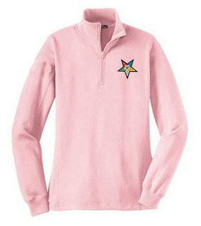 DISCOUNT-Order Of Eastern Star  Crest - Shield Patch 1/4 Zip Pullover