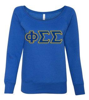 DISCOUNT-Phi Sigma Sigma Fleece Wideneck Sweatshirt