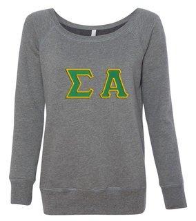 DISCOUNT-Sigma Alpha Fleece Wideneck Sweatshirt