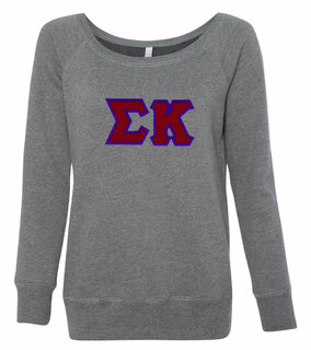 DISCOUNT-Sigma Kappa Fleece Wideneck Sweatshirt