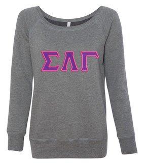 DISCOUNT-Sigma Lambda Gamma Fleece Wideneck Sweatshirt