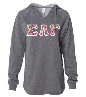 Sigma Lambda Gamma Women's Lightweight California Wavewash Hooded Pullover Sweatshirt