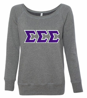 DISCOUNT-Sigma Sigma Sigma Fleece Wideneck Sweatshirt