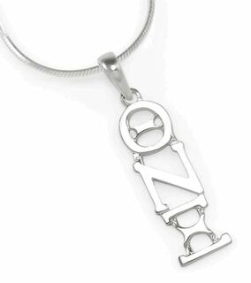 Theta Nu Xi Sterling Silver lavaliere pendant