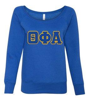 DISCOUNT-Theta Phi Alpha Fleece Wideneck Sweatshirt