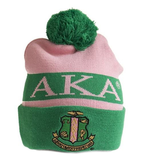 Alpha Kappa Alpha Knit Beanie With Pompon