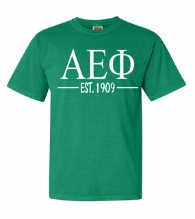 Alpha Epsilon Phi Custom Greek Lettered Short Sleeve T-Shirt - Comfort Colors