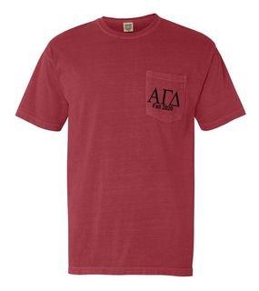 Alpha Gamma Delta Custom Comfort Colors Pocket Tee