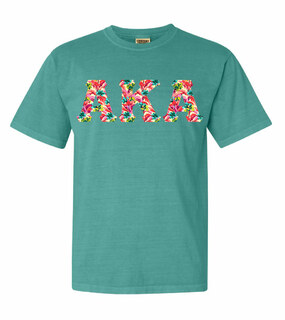 Alpha Kappa Alpha Comfort Colors Lettered Greek Short Sleeve T-Shirt
