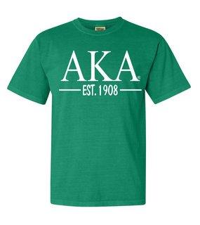 Alpha Kappa Alpha Custom Greek Lettered Short Sleeve T-Shirt - Comfort Colors