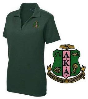 DISCOUNT-Alpha Kappa Alpha Emblem Polo