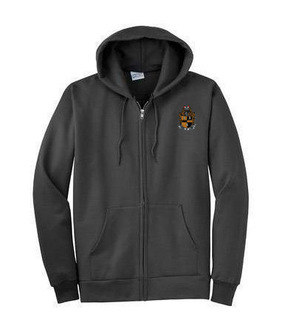 DISCOUNT-Alpha Phi Alpha Emblem Full Zippered Hoodie