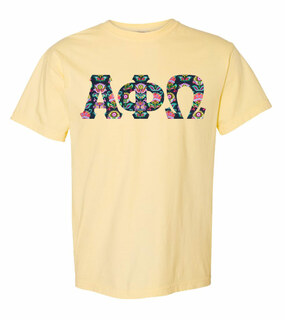 Alpha Phi Omega Comfort Colors Lettered Greek Short Sleeve T-Shirt