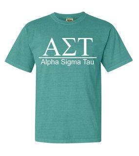Alpha Sigma Tau Comfort Colors Heavyweight T-Shirt