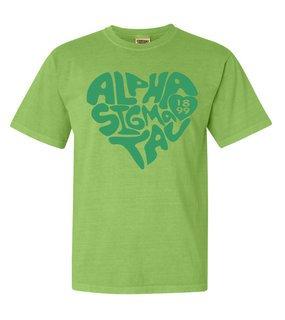 Alpha Sigma Tau Piece of My Heart Sorority Comfort Colors T-Shirt