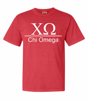 Chi Omega Comfort Colors Heavyweight T-Shirt