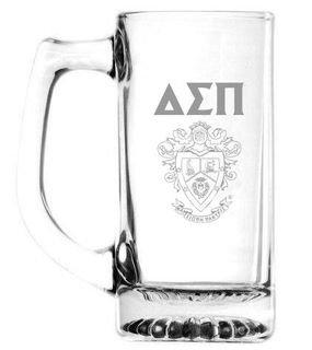 Delta Sigma Pi 13 oz Glass Engraved Mug