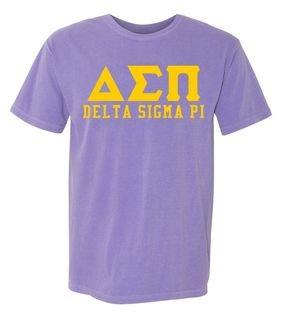 Delta Sigma Pi Greek Custom Comfort Colors Heavyweight T-Shirt