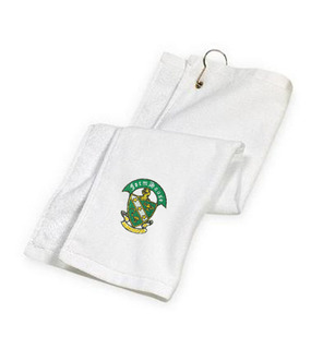 DISCOUNT-FarmHouse Fraternity Crest - Shield Golf Towel