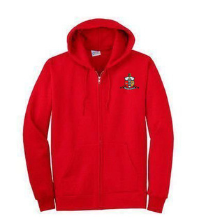 DISCOUNT-Kappa Alpha Psi Emblem Full Zippered Hoodie