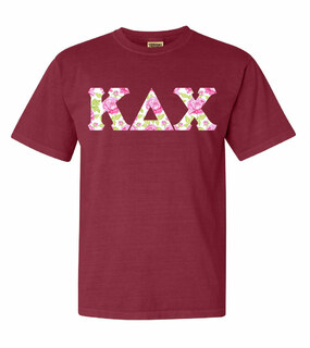 Kappa Delta Chi Comfort Colors Lettered Greek Short Sleeve T-Shirt