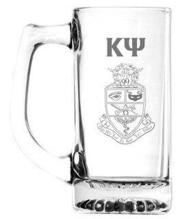 Kappa Psi 13 oz Glass Engraved Mug