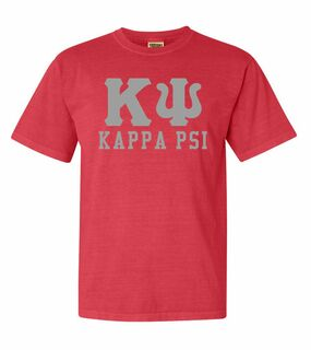 Kappa Psi Greek Custom Comfort Colors Heavyweight T-Shirt