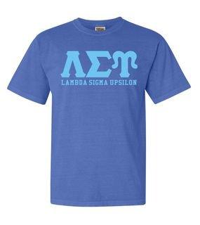 Lambda Sigma Upsilon Greek Custom Comfort Colors Heavyweight T-Shirt