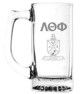 Lambda Theta Phi 13 oz Glass Engraved Mug