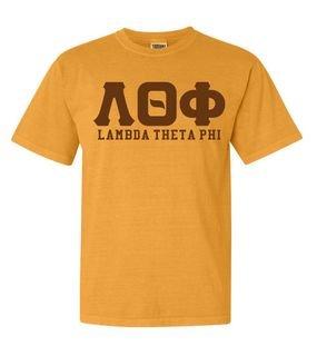 Lambda Theta Phi Greek Custom Comfort Colors Heavyweight T-Shirt