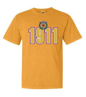 Omega Psi Phi Comfort Colors Heavyweight Established T-Shirt