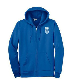 DISCOUNT-Phi Beta Sigma Emblem Full Zippered Hoodie
