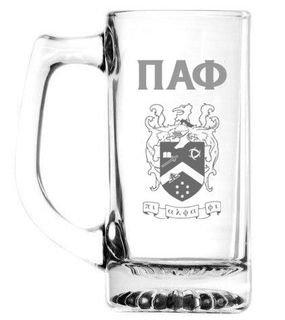 Pi Alpha Phi 13 oz Glass Engraved Mug