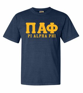 Pi Alpha Phi Greek Custom Comfort Colors Heavyweight T-Shirt