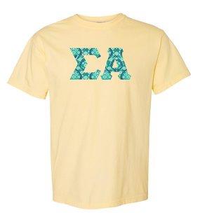 Sigma Alpha Comfort Colors Lettered Greek Short Sleeve T-Shirt