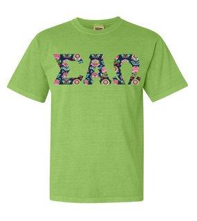 Sigma Alpha Omega Comfort Colors Lettered Greek Short Sleeve T-Shirt