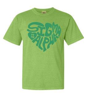 Sigma Alpha Piece of My Heart Sorority Comfort Colors T-Shirt