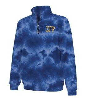 Sigma Gamma Rho Crosswind Tie-Dye Quarter Zip Sweatshirt