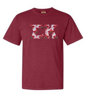 Sigma Kappa Comfort Colors Lettered Greek Short Sleeve T-Shirt