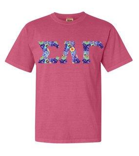 Sigma Lambda Gamma Comfort Colors Lettered Greek Short Sleeve T-Shirt