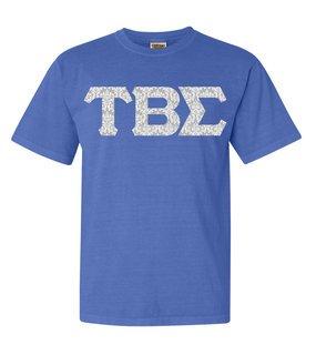 Tau Beta Sigma Comfort Colors Lettered Greek Short Sleeve T-Shirt