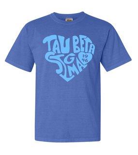 Tau Beta Sigma Piece of My Heart Sorority Comfort Colors T-Shirt