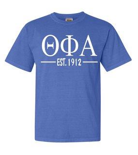 Theta Phi Alpha Custom Greek Lettered Short Sleeve T-Shirt - Comfort Colors
