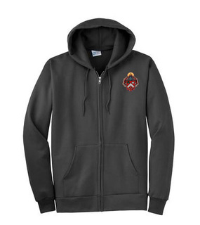 DISCOUNT-Triangle Fraternity Crest - Shield Patch Full Zippered Hoody