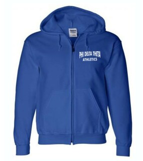 Athletics Hooded Greek Zipper Sweatshirt